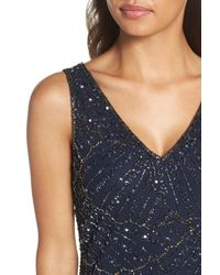 Pisarro Nights - Blue Beaded Sheath Dress - Lyst