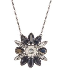 Swarovski   Multicolor Crystal Shourouk Pendant Necklace   Lyst