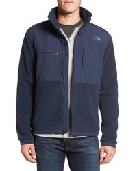 The North Face - Blue Denali 2 Recycled Fleece Jacket for Men - Lyst
