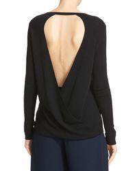 Diane von Furstenberg - Black Kylee Merino Wool & Silk Pullover - Lyst
