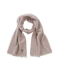 Frye Brown Herringbone Stripe Wool & Cashmere Blend Scarf