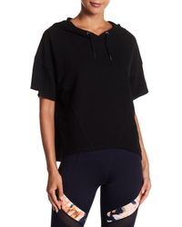 Betsey Johnson - Black Cropped Cape Hoodie - Lyst