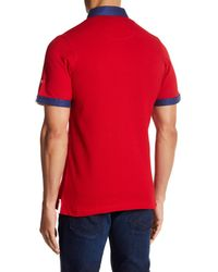 Maceoo - Red Short Sleeve Polo for Men - Lyst