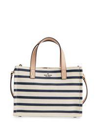 Kate Spade - Blue Washington Square - Sam Canvas Handbag - Lyst