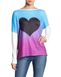 Go Couture - Multicolor Knit Dolman Pullover Sweater - Lyst