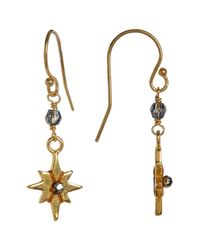 Chan Luu - Metallic 18k Gold Plated Sterling Silver Crystal Accented Starburst Dangle Earrings - Lyst