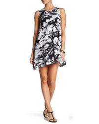 RVCA | White Sucker Punched Printed Swing Dress | Lyst