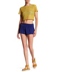 Body Glove - Blue Peyton Foldover Waist Short - Lyst