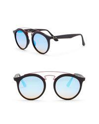 db0707f7029 Lyst - Ray-Ban 49mm Phantos Aviator Sunglasses in Blue for Men