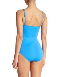 Tommy Bahama Blue Pearl One-piece Swimsuit