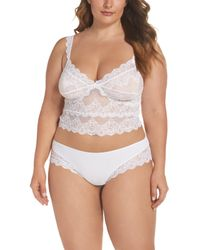 Only Hearts - White So Fine Crop Camisole - Lyst