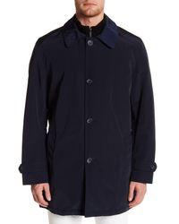 Kenneth Cole - Blue Bonded Poly Raincoat for Men - Lyst