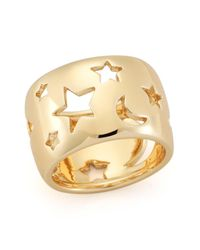 Elizabeth and James | Metallic Luca Moon & Star Cutout Ring | Lyst