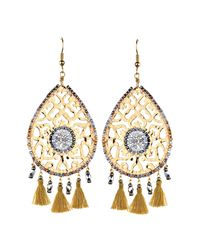 Mishky - Metallic Fili Tassel Drop Earrings - Lyst