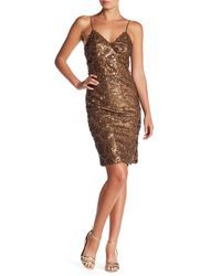 Line & Dot | Brown Lotte Sequin Pin Dress | Lyst
