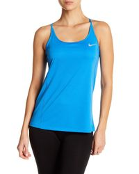 Nike - Blue Dry-fit Miler Tank - Lyst