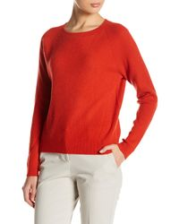 Vince - Red Ribbed Cashmere Sweater - Lyst