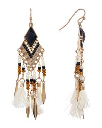 Shashi - Black Marel Beaded Drop Chandelier Earrings - Lyst