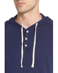 The Rail - Blue Henley Hoodie (2 For $30) for Men - Lyst