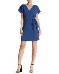 Bobeau | Blue Crepe Wrap Dress | Lyst
