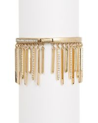 Jenny Packham - Metallic Pave Crystal Fringe Bracelet - Lyst