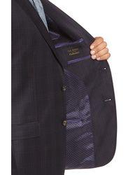 Ted Baker - Black Jed Trim Fit Plaid Wool Sport Coat for Men - Lyst