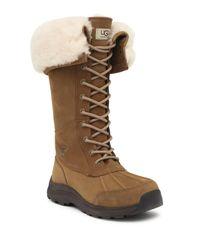 Ugg - Brown Adirondack Iii Pure(tm) Lined Waterproof Suede Boot - Lyst