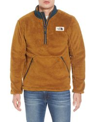 The North Face - Brown Campshire Pullover Fleece Jacket for Men - Lyst