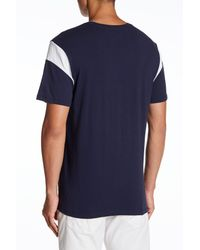 True Religion - Blue Graphic Football Sleeve Tee for Men - Lyst
