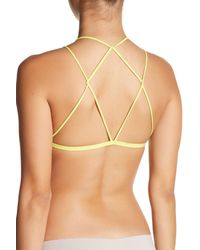Free People - Yellow High Neck Bralette - Lyst