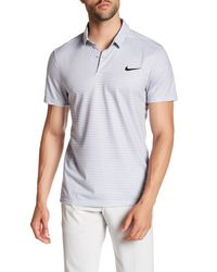 Nike | Gray Fly Modern Fit Stripe Polo for Men | Lyst