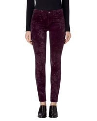 J Brand - Purple Mid Rise Super Skinny Pants - Lyst