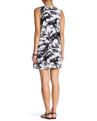 RVCA - White Sucker Punched Printed Swing Dress - Lyst