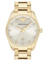 Emporio Armani Metallic Crystal Index Bracelet Watch
