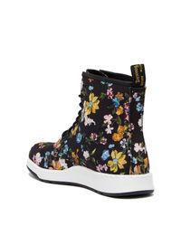 Dr. Martens Newton Df Black Darcy Floral Fine Canvas Boots