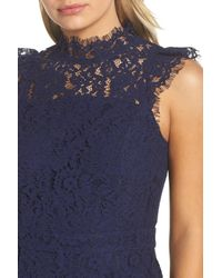 Adelyn Rae | Blue Tracy Lace Romper | Lyst