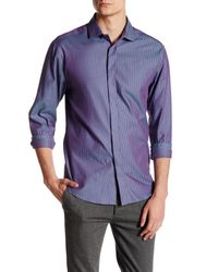 Vince Camuto | Blue Contemporary Fit Stripe Sport Shirt for Men | Lyst