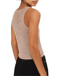 TOPSHOP - Multicolor Metallic Ribbed Sweater Tank - Lyst