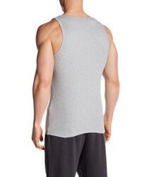 Bread & Boxers - Gray Ribbed Tank for Men - Lyst