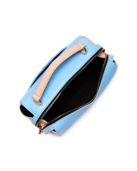 MILLY - Blue Astor Soft Leather Satchel - Lyst