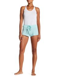 Pj Salvage - Blue All Tie Up Printed Mesh & Knit Shorts - Lyst