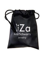 Liza Schwartz - Black Grande Industrial Nut Double Leather Choker - Lyst