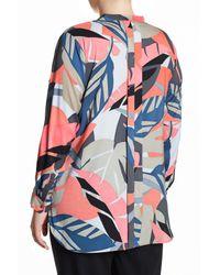 Vince Camuto - Blue Modern Tropics Tunic Blouse (plus Size) - Lyst