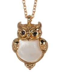 Kate Spade - Metallic Into The Woods Owl Pendant Necklace - Lyst