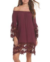 Muche Et Muchette - Purple Jolie Lace Accent Cover-up Dress - Lyst