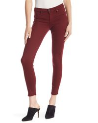 Hudson - Red Krista Ankle Skinny Jeans - Lyst