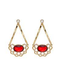 Carolee   Metallic Openwork Chandelier Drop Earrings   Lyst
