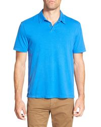 James Perse - Blue Jersey Short Sleeve Polo for Men - Lyst