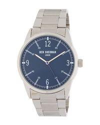 Ben Sherman - Metallic Stainless Steel Quartz Watch, 41mm for Men - Lyst