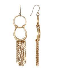 Lucky Brand - Metallic Triple Circle Linear Earrings - Lyst